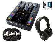 Native Instruments Traktor Kontrol Z2 DJ Mixer FREE Tascam TH 02 2 XLR CABLES 18ft ea