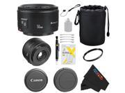 Canon EF 50mm f/1.8 II Camera Lens for T3, T3i, T4i, T5, T5i, 5D, 6D, 60D, 7D, 70D, SL1, 600D, 650D, 700D, 100D, 1100D + Pixi-Basic Accessory Bundle
