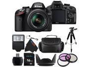 Nikon D3200 24.2 MP CMOS Digital SLR with 18-55mm f/3.5-5.6 AF-S DX VR NIKKOR Zoom Lens (Black) + Pixi-Basic Accessories Bundle