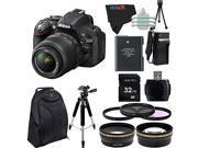 Nikon D5200 24.1 MP Digital SLR Camera with 18-55mm f/3.5-5.6 AF-S DX VR NIKKOR Zoom Lens + Pixi-Advanced Accessory Bundle