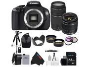 Canon EOS Rebel 600D / T3i Digital SLR Camera with EF-S 18-55mm f/3.5-5.6 IS Lens + Canon EF 75-300mm f/4-5.6 III Telephoto Zoom Lens + Pixi-Advanced Accessory Bundle