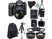 Nikon D7000 16.2MP DSLR with Nikon 18-105mm f/3.5-5.6 AF-S DX VR ED Nikkor Lens + Pixi-Advanced Accessory Bundle