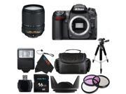 Nikon D7000 16.2MP DX-Format CMOS Digital SLR with 18-140mm f/3.5-5.6G ED VR AF-S DX NIKKOR Zoom Lens + Pixi-Basic Accessory Bundle