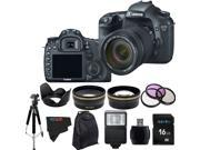 Canon EOS 7D 18MP CMOS Digital SLR Camera with 18-135mm f/3.5-5.6 IS UD Standard Zoom Lens + Pixi-Advanced Accessory Bundle