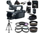 Canon XA20 Professional Camcorder - 8453B002 + Pixi-Essential Accessory Bundle