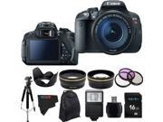 Canon EOS Rebel 700D / T5i 18MP Digital SLR Camera with 18-135mm STM Lens + Pixi-Advanced Accessory Bundle