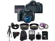 Canon EOS Rebel 600D / T3i Digital SLR Camera with EF-S 18-55mm f/3.5-5.6 IS Lens + Pixi-Advanced Accessory Bundle