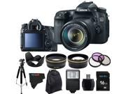 Canon EOS 70D 20.2MP Digital SLR Camera with 18-135mm STM Lens + Pixi-Advanced Accessory Bundle