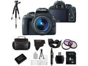 Canon EOS Rebel SL1 18MP Digital SLR Camera with 18-55mm STM Lens + Pixi-Basic Accessory Bundle