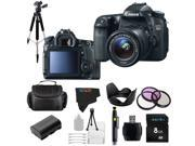 Canon EOS 70D 20.2MP Digital SLR Camera with 18-55mm STM Lens + Pixi-Basic Accessory Bundle