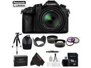 Panasonic Lumix DMC-FZ1000 4K QFHD/HD 16X Long Zoom Digital Camera + Pixi-Advanced Accessory Bundle