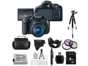 Canon EOS Rebel 600D / T3i Digital SLR Camera with EF-S 18-55mm f/3.5-5.6 IS Lens + Pixi-Basic Accessory Bundle