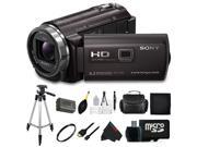 Sony HDRPJ540/B Video Camera with 3-Inch LCD (Black) + Pixi-Basic Accessory Bundle