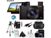 Sony DSC-RX100 Mark III Cyber-shot Digital Still Camera + Pixi-Advanced Accessory Bundle
