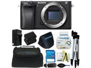 Sony Alpha a6300 Mirrorless Digital Camera (Body Only) + Pixi-Basic Accessory Bundle