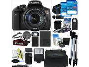 Canon EOS Rebel T6i DSLR Camera with 18-135mm Lens + Pixi-Advanced Accessory Bundle