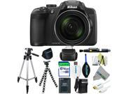 Nikon COOLPIX P610 Digital Camera with 60x Optical Zoom and Built-In Wi-Fi (Black) + Pixi-Advanced Accessories Bundle