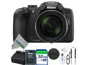 Nikon COOLPIX P610 Digital Camera with 60x Optical Zoom and Built-In Wi-Fi (Black) + Pixi-Essentials Accessories Bundle