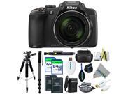 Nikon COOLPIX P610 Digital Camera with 60x Optical Zoom and Built-In Wi-Fi (Black) + Pixi-Pro Accessories Bundle