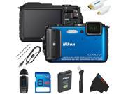 Nikon COOLPIX AW130 Waterproof Digital Camera + 8GB Pixi-Basic Accessory Kit