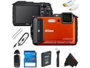 Nikon COOLPIX AW130 Waterproof Digital Camera + 16GB Pixi-Basic Accessory Kit