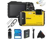 Nikon COOLPIX AW130 Waterproof Digital Camera + 32GB Pixi-Basic Accessory Kit