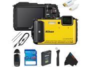 Nikon COOLPIX AW130 Waterproof Digital Camera + 64GB Pixi-Basic Accessory Kit