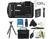 Nikon COOLPIX AW130 Waterproof Digital Camera (Black) + Pixi-Basic Accessory Kit