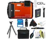 Nikon COOLPIX AW130 Waterproof Digital Camera (Orange) + Pixi-Basic Accessory Kit