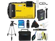 Nikon COOLPIX AW130 Waterproof Digital Camera Yellow) + Pixi-Advanced Accessory Kit