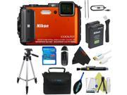 Nikon COOLPIX AW130 Waterproof Digital Camera (Orange) + Pixi-Advanced Accessory Kit