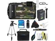 Nikon COOLPIX AW130 Waterproof Digital Camera (Camouflage) + Pixi-Advanced Accessory Kit