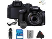 Canon PowerShot SX60 HS Digital Camera + 8GB Pixi-Basic Accessory Kit