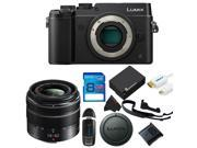 Panasonic Lumix DMC-GX8 Mirrorless Micro Four Thirds Digital Camera + Panasonic Lumix G Vario 14-42mm f/3.5-5.6 II Lens + 8GB Pixi-Basic Accessory Kit