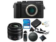 Panasonic Lumix DMC-GX8 Mirrorless Micro Four Thirds Digital Camera + Panasonic Lumix G Vario 14-42mm f/3.5-5.6 II + 16GB Pixi-Basic Accessory Kit