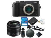 Panasonic Lumix DMC-GX8 Mirrorless Micro Four Thirds Digital Camera + Panasonic Lumix G Vario 14-42mm f/3.5-5.6 II + 32GB Pixi-Basic Accessory Kit