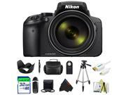Nikon COOLPIX P900 Digital Camera with 83x Optical Zoom and Built-In Wi-Fi (Black) + Pixi-Basic Accessory Bundle