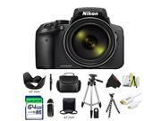 Nikon COOLPIX P900 Digital Camera with 83x Optical Zoom and Built-In Wi-Fi (Black) + Pixi-Advanced Accessory Bundle