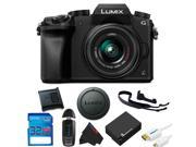 Panasonic Lumix DMC-G7 Mirrorless Micro Four Thirds Digital Camera with 14-42mm Lens + 32GB Pixi-Basic Accessory Kit