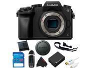 Panasonic Lumix DMC-G7 Mirrorless Micro Four Thirds Digital Camera (BODY ONLY) + 32GB Pixi-Basic Accessory Kit