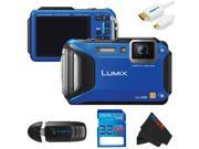 Panasonic Lumix DMC-TS5 Digital Camera (Blue) + 32GB Pixi-Basic Accessory Kit
