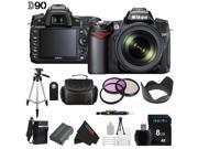 Nikon D90 12.3MP DX-Format CMOS Digital SLR Camera with 18-105 mm f/3.5-5.6G ED AF-S VR DX Nikkor Zoom Lens + Pixi-Basic Accessory Bundle