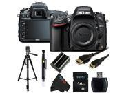 Nikon D610 24.3 MP CMOS FX-Format Digital SLR Camera (Body Only) + 16GB Pixi-Basic Accessory Bundle