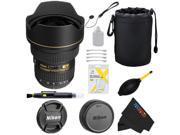 Nikon AF-S Zoom Nikkor 14-24mm f/2.8G ED AF Lens + Pixi-Basic Accessory Bundle