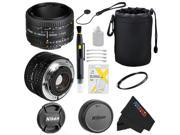 Nikon 50mm f/1.8D AF Lens Import for D3000, D3100, D3200, D4, D4S, D5000, D5100, D5200, D5300, D600, D610, D700, D7000, D7100, D800, D800E, D810, D90 DSLR Cameras + Pixi-Basic Accessory Bundle