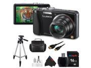 Panasonic DMC-ZS20/TZ30 Digital Camera (Black) + Pixi-Basic Accessory Bundle