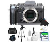 Fujifilm X-T1 Mirrorless Digital Camera Silver (Body Only) + Pixi-Advanced Accessories Kit