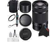 Sony E 55-210mm F4.5-6.3 Lens for ILCE-7, ILCE-7R, ILCE-7S, NEX-3, NEX-5, NEX-C3, NEX-3N, NEX 5T, A3000, A5000, A5100 Sony E-Mount Cameras + Pixi-Basic Accessory Bundle