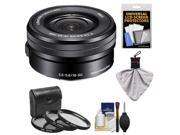 Sony Alpha E-Mount 16-50mm f/3.5-5.6 OSS PZ Lens with 3 (UV/CPL/ND8) Filters + Kit for A7, A7R, A7S, A3000, A5000, A5100, A6000 Cameras