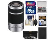 Sony Alpha E-Mount 55-210mm f/4.5-6.3 OSS Zoom Lens + 16GB Card + NP-FW50 Battery + 3 Filters Kit for A7, A7R, A7S, A3000, A5000, A5100, A6000 Camera